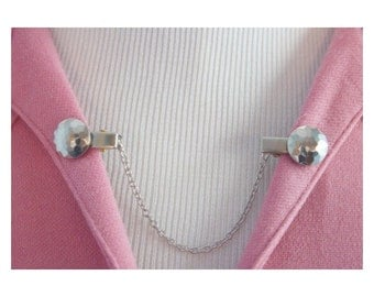 Sweater Guard Cardigan Clip Collar Clip Vintage Inspired Retro Jewelry - Katie