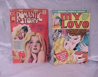 Two Vintage Marvel Comics Romantic Story and My Love
