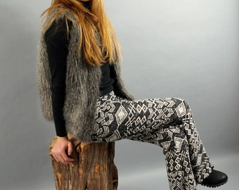 BS2702 Native American stretchy  knit Boho bell bottom-Hippie flare pants-Boho pants-Gypsy pants-Bohemian-70's clothing-XS-S-M-L-XL