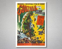 Godzilla, King of the Monsters Movie Poster - Poster Paper, Sticker or Canvas Print