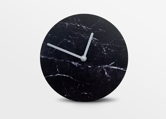 Faris by Hey Fishy,Premium black marble designer wall clock