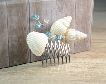 Beach Wedding Hair Accessories Beach Hair Comb Sea Shell Hair Comb Seashells Hair Comb Crystal Hair Comb Seashell Hair pin barrette bohemian