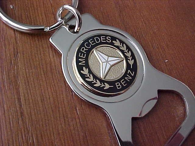 gold mercedes benz car chrome bottle opener key ring classic. Black Bedroom Furniture Sets. Home Design Ideas