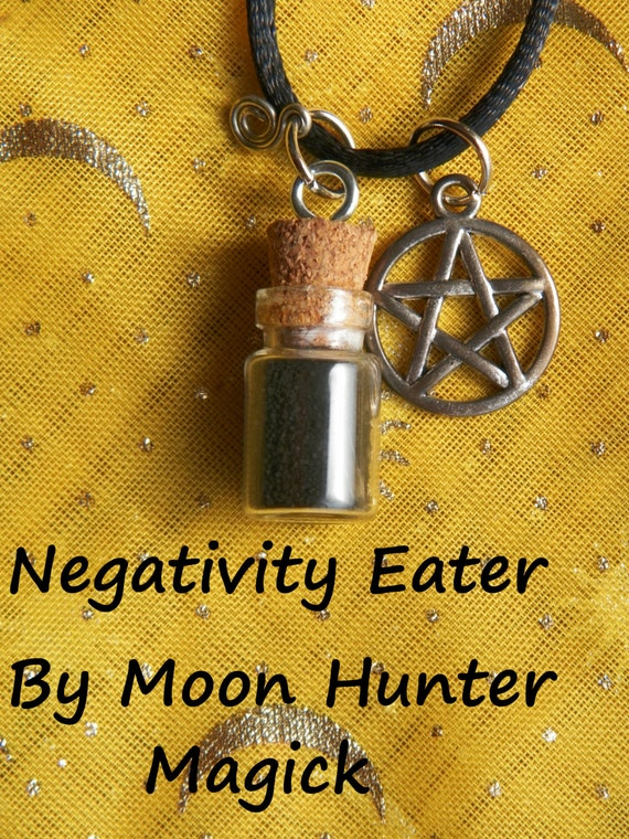 Anti Negativity Negativity Eater Amulet Charm Bottle Necklace 20+ yrs exp