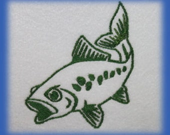 Fish  Digitized Machine Embroidery File ONLY