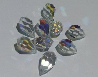 4 - 15x9 mm Clear AB Preciosa Crystals Tear Drops