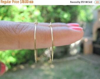 SALE - gold hoop earrings - gold filled earring - simple hoop earrings - thin delicate earrings - dainty hoop jewelry - Gold earrings