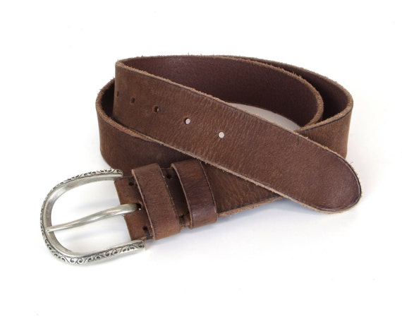 brown aged leather belt mens leather belt womens leather