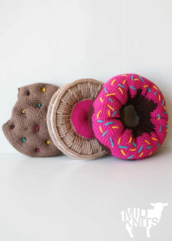 Crochet PATTERN - Sweet Treats Cushion Collection - 11 diameter Donut ...