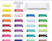 Cutting Machine without Mat - Cameo (Set #5) Icon Digital Clipart in Rainbow Colors - Instant download PNG files