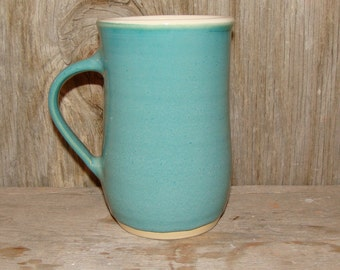 Teal Blue Coffee Cup