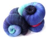 Spinning batts - gradient fibre - Purple - Violet - Mint - 100g - 3.5oz - MIDSUMMER NIGHT
