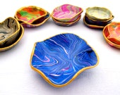 Marbled Clay Multicolored Ring Dish Large