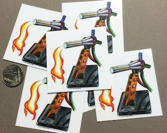 GTT Lynx Glassblowing Torch vinyl sticker set - 6pc
