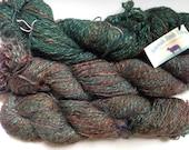 50% Off Handspun Wool Yarn Jehovah Jirah Farms Brown Green 3.25 Ounces 2 Ply Brown Green
