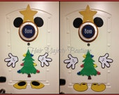 Mickey OR Minnie Mouse as Christmas Tree Body Part Cruise Door Magnet