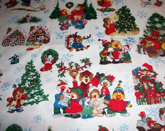 Christmas Suzy's Zoo    Crib/toddler fitted  sheet