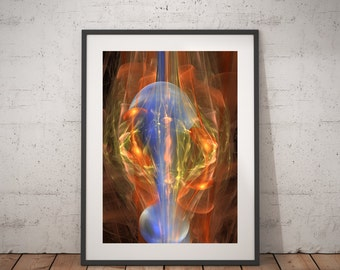 Two Faces Abstract Fine Art print