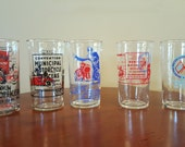 Municipal Motorcycle Officers of California Convention Commemorative Glasses