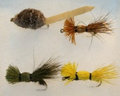 Fly Fishing Flies - Fly Fishing - Combination Pack of 4 Hand-tied Bass Bug Flies - Smallmouth - Largemouth - Michigan Made - Valentine's