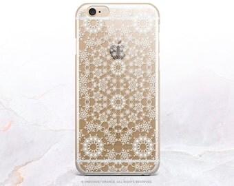 iPhone 7 Snowflakes GRIP Clear Rubber Case iPhone 7 Plus Clear Case iPhone 6 Case iPhone 6S Case iPhone SE Case Samsung S7 Edge Case H2