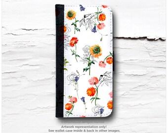 iPhone 6S Case Wallet, iPhone 6 Wallet Case Floral, Wallet iPhone 6s Case, Summer iPhone 6 Wallet Case, Peonies iPhone 6S Wallet Case T107