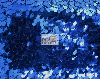 """Drop Sequin Fabric - ROYAL BLUE - Sold By The Yard 50"""" Width"""