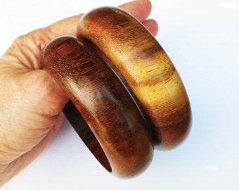 African Wood Bangle Combo IV Bracelets