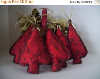 Christmas Tree Decorations, Holiday Entertaining Decor, Ornaments, Scented, Red, Green, Handmade