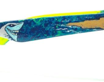 Shark Beach Custom Painted Sunglasses