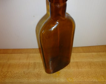 Vintage Amber Colored Apothecary, Medicine? Bottle