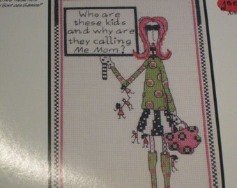 "Dolly Mamas for Janly - ""Who are these kids...."" - for Janlynn - Counted Cross Stitch Kit"