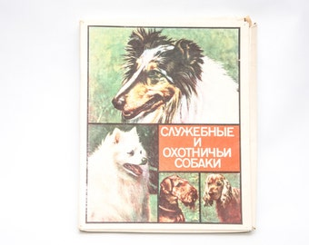 Vintage collectible matchbox set soviet, matches with brown heads inside, dogs
