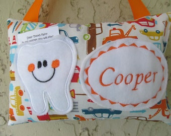 Tooth Fairy Pillow Personalized Transportation