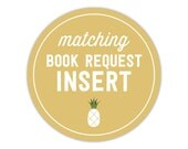 Matching Book Request Insert - Add On - To Match Any Invitation in My Shop