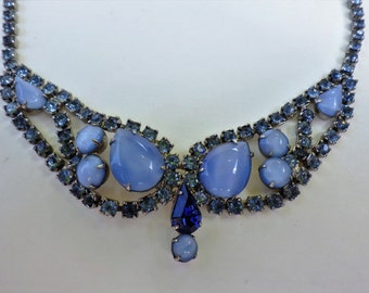 Vintage Rhinestone and Moonglow Necklace