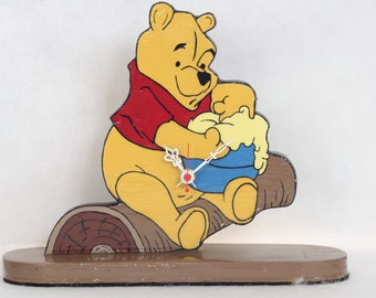 Winnie The Pooh Desk Clock, Home Decor, Child's Bedroom, Geekery, Clocks by DanO