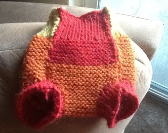 Knitted Wool Diaper Cover/Soaker Firefly Style