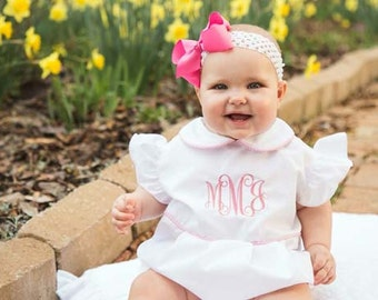 292182 -  Baby Girl Clothes - Baby Girl Bubble - Baby Bubble - Tractor Birthday - Baby Bubble Suit - Baby Bubble Romper - Twin Babies