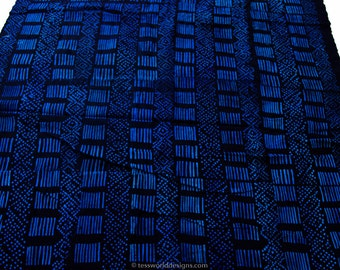 Authentic indigo cloth, African mudcloth , Indigo mudcloth Fabric , Hand woven , Wholesale fabric ,  African cloth , African fabric , MC174