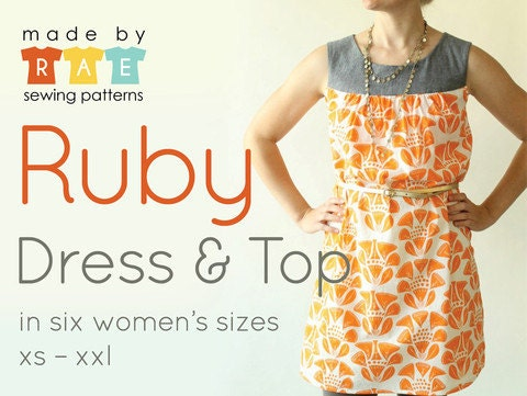 ruby dress and top pattern by made by rae dress sewing. Black Bedroom Furniture Sets. Home Design Ideas