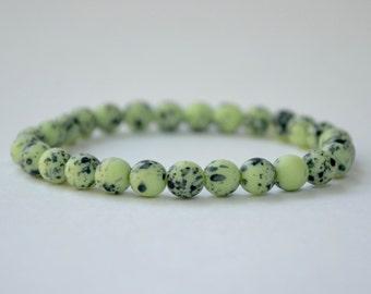 Green Speckled Stretchy Bracelet