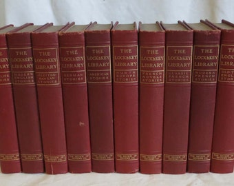 Matching Red Decorative Book Set ~ Collection of 10 Books ~ Interior Designer Books ~ Instant Library Red Books