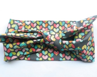 Ladybird Hearts 50's rockabilly headscarf