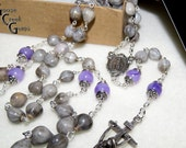 Birthstone Home Grown Job's Tears Rosary- Makes an Unusual Gift for Mother or Father Rosary- Grandmother or Grandfather Rosary