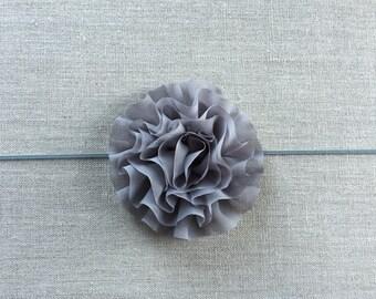 Grey chiffon headband