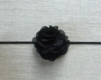 Black chiffon headband