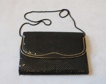 Black Mesh Shoulder Bag