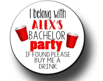 Bachelor If Lost Buy Me A Drink Pins Grooms Entourage Bachelor Party Favors 2.25 inch Pinback Buttons, pins, Badges
