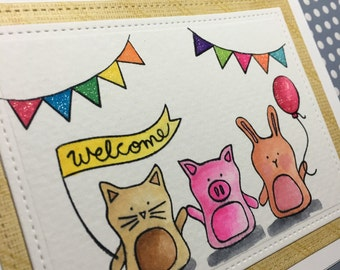 "Baby Shower ""Welcome"" Card made with Simon Says Stamp Stamp Set"